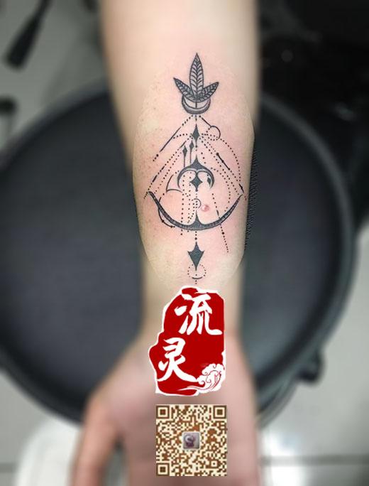 几何弓箭纹身(新