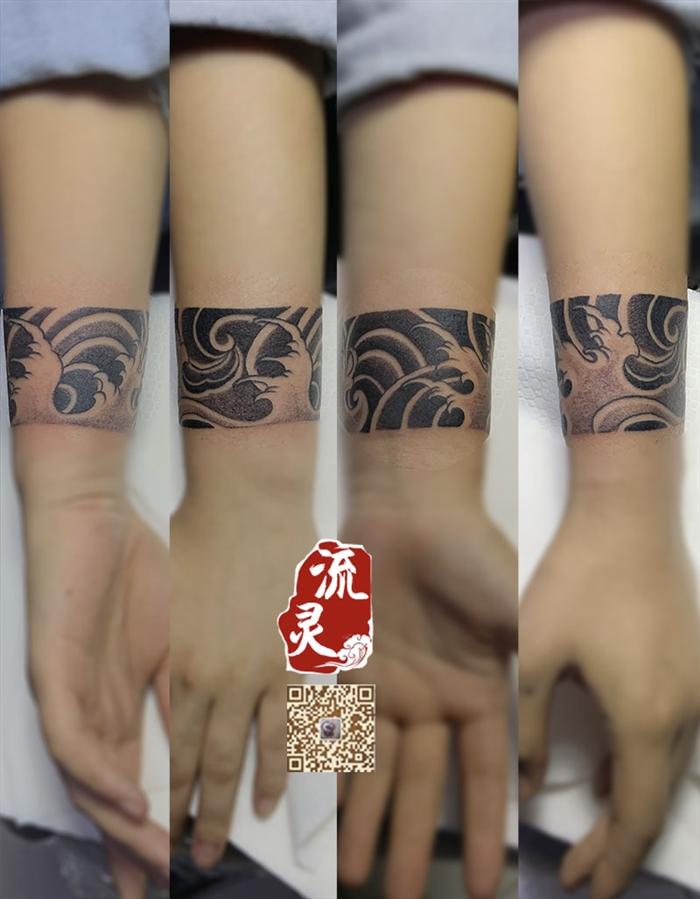 手腕日式臂环纹身