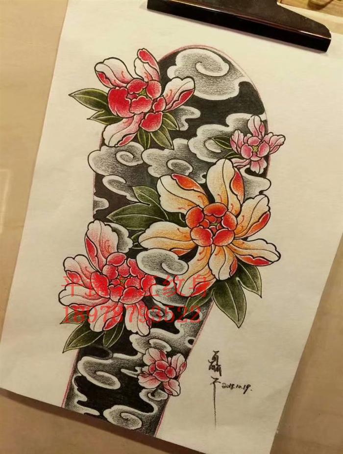传统纹身手稿 写实身纹身那里好