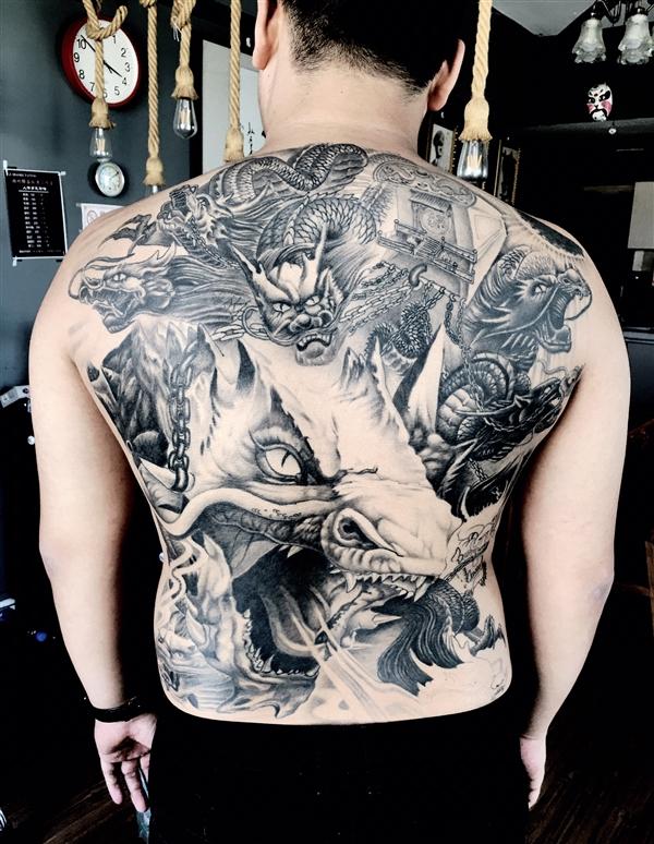 郑州纹身 六龙拉