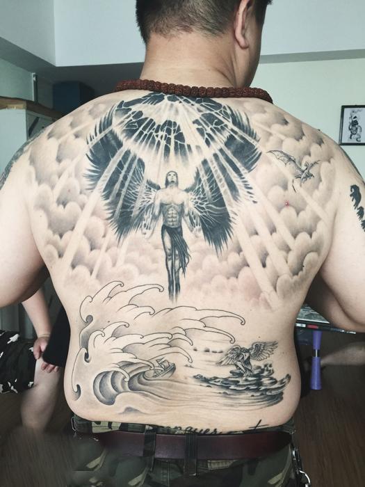 天使纹身图案 郑