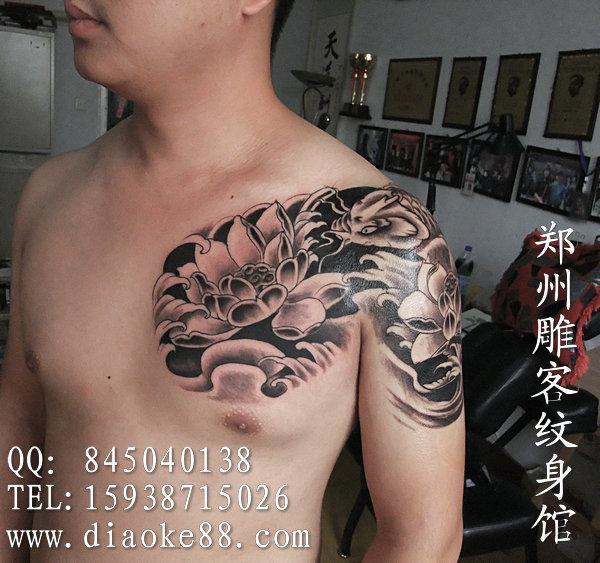 郑州纹身 半甲纹