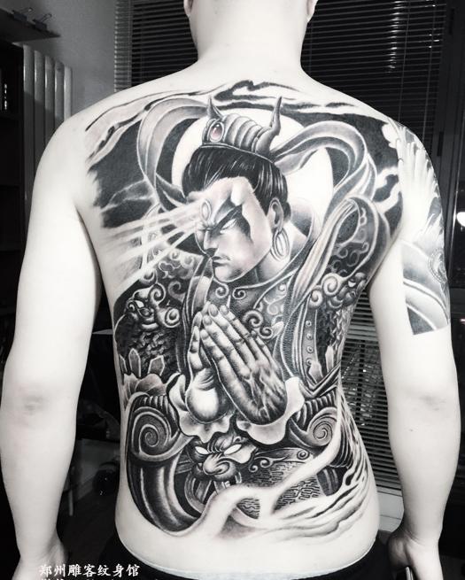 郑州纹身 满背二