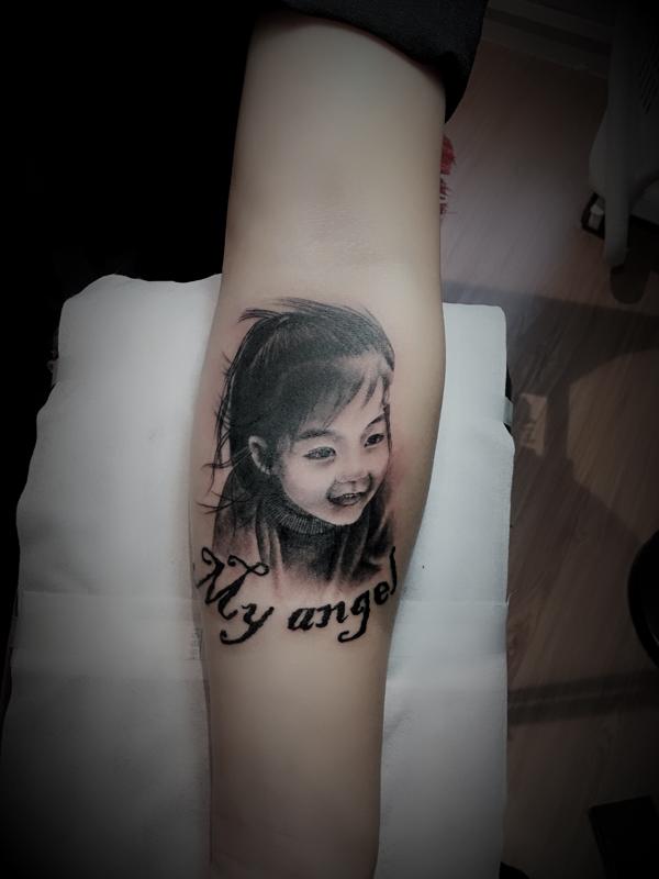 人物肖像纹身图案