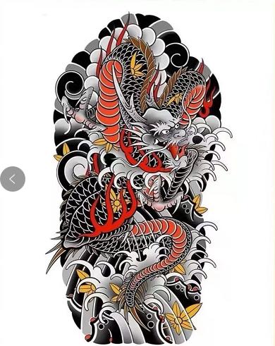 南昌纹身,老传统纹身,龙纹身