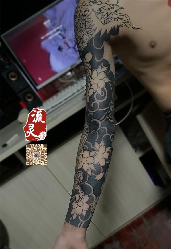 日式花臂遮盖失败